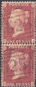 1857 1d Red SG40 Plate 36 'CL-DL'